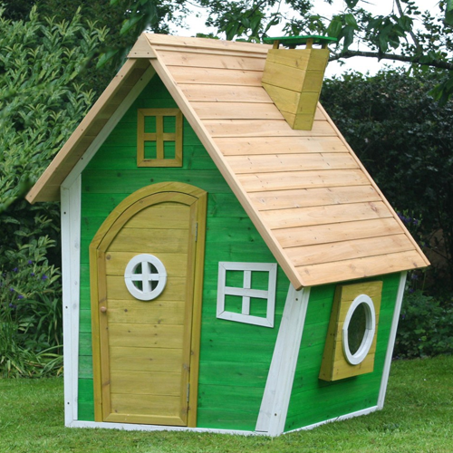 Green Wacky Wooden Ranch Kids Playhouse