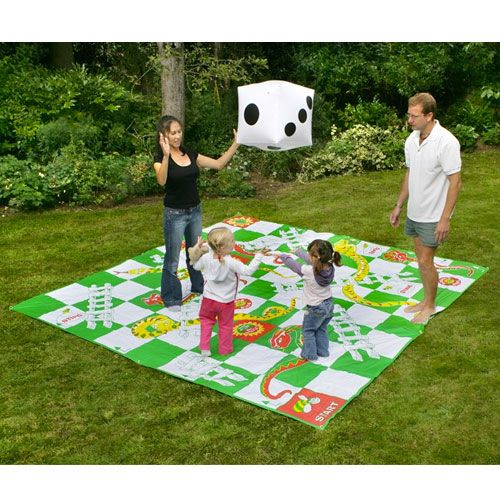 Giant Garden Snakes and Ladders Family Set