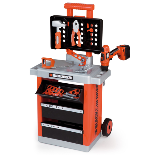 Kids Black and Decker Smoby Trolley