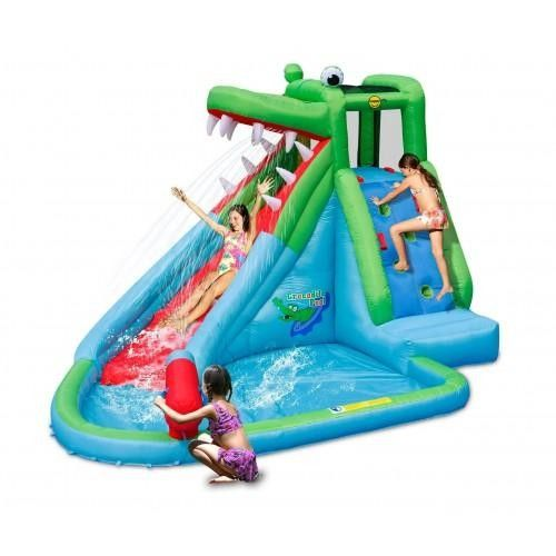 Kids Jumbo Crocodile Inflatable Water Slide Park