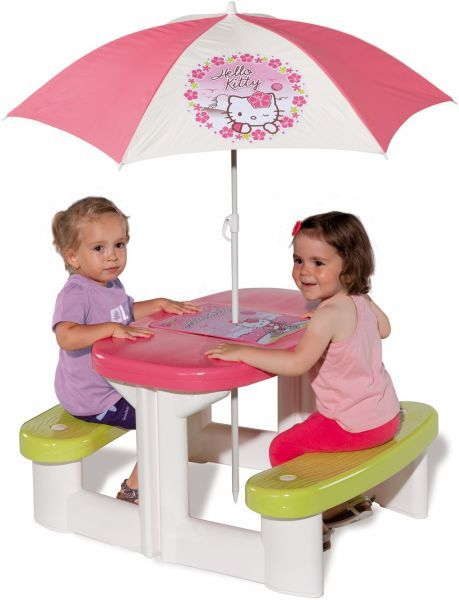 Kids Pink Garden Picnic Table