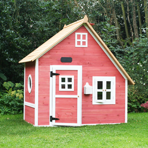Pink Wooden Kids Classic Playhouse