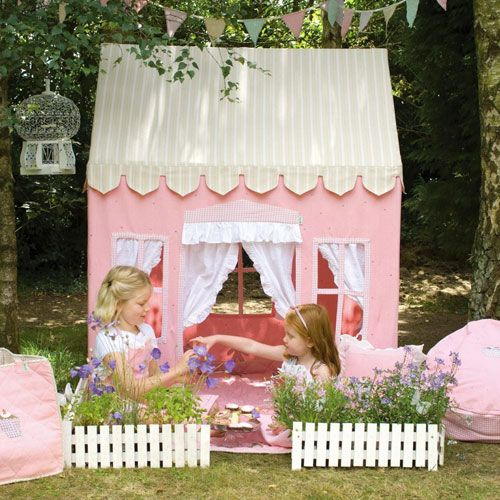 Traditional Girls Pink Gingerbread Playhouse